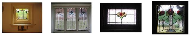 Artarmon NSW, examples of Transition style leadlight windows