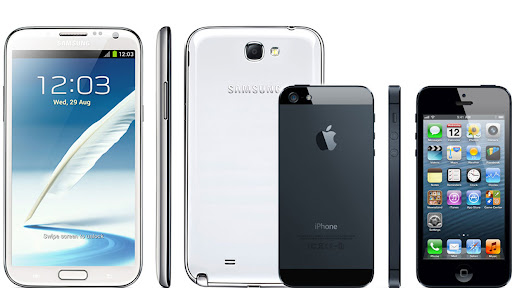 iPhone 5 vs Galaxy Note 2 Specs and Features Comparison
