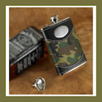 Engraved Camo Flask
