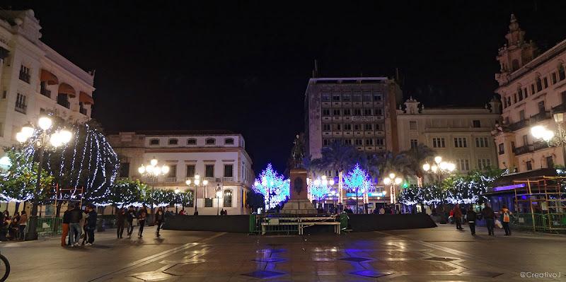luces navidad, plaza tendillas, árboles iluminados, neón, córdoba, españa, navidad, festividad, decoración navideña