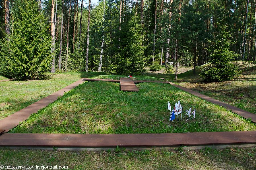 Нынешние братские могилы польских офицеров