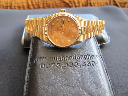 Bán đồng hồ rolex day date 6 số 118238 – Mặt vi tính xoàn – seri V – dây vàng 18k – size 36