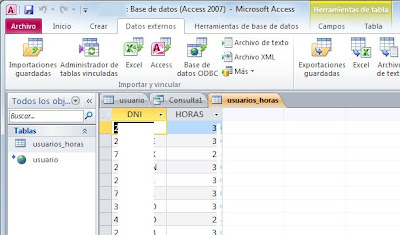 Importar hoja de Excel en Access