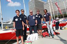 J/24s sailing for New York Harbor School