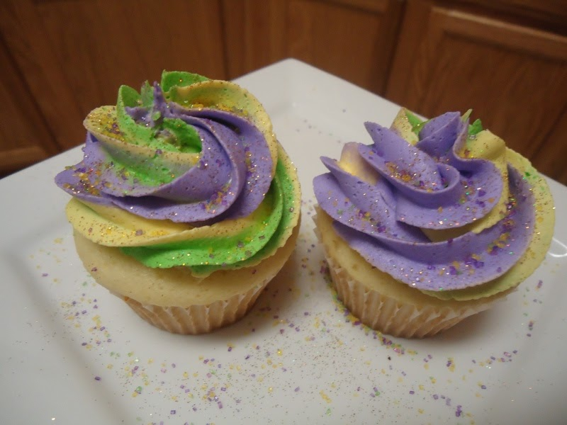 Cupcakeables Mardi Gras King Cake Cupcakes