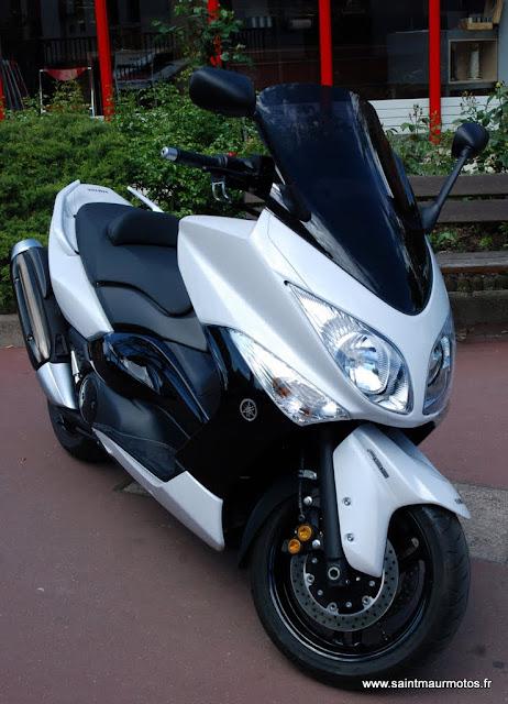 occasion yamaha tmax 500 abs 2011 blanc 2000kms vendu saint maur motos. Black Bedroom Furniture Sets. Home Design Ideas