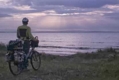 Miri vor abendlichen Sonnenstrahlen bei Enniscrone