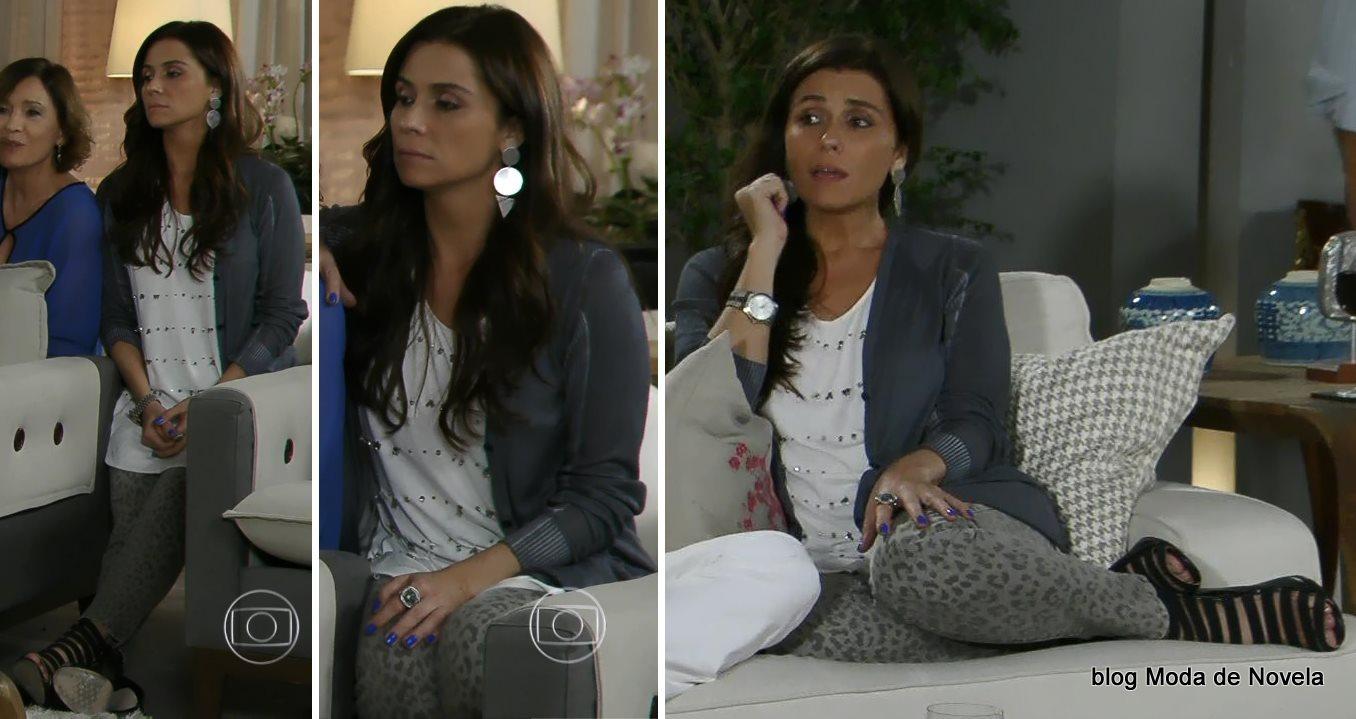 moda da novela Em Família - look da Clara dia 8 de julho