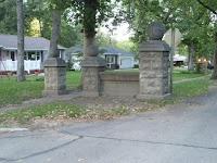 Main Columns at the entrance of the Galloway Estate (1917), Edwards Ave. and Grand Blvd.