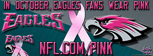 Eagles Breast Cancer Awareness Pink Facebook Cover Photo