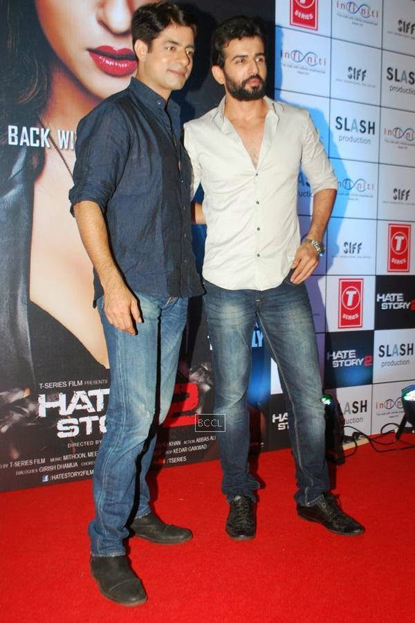 Sushant Singh and Jay Bhanushali during the promotion of Bollywood movie Hate Story 2, held in Mumbai, on July 12, 2014. (Pic: Viral Bhayani)