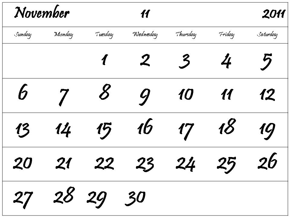 printable 2011 calendar. printable weekly calendar