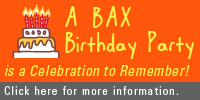 BAX Birthday Party