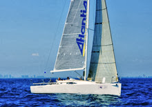 J/111 Fleetwing- sponsored by Atlantis Weathergear- sailing upwind