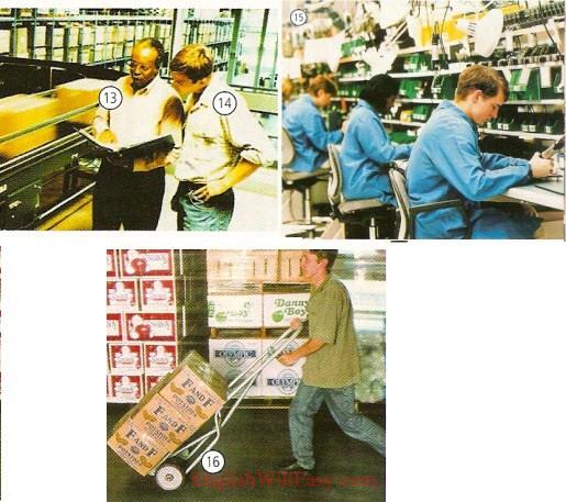Usine-travail/professions-dictionnaire de photo
