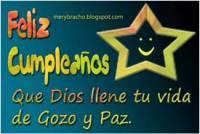 Feliz Cumpleaños de Gozo y Paz. Postal Cristiana, tarjeta con dedicatoria para felicitar cumpleaños de hombre, mujer, niño, niña, amigo, amiga. Felicitaciones de cumpleaños con la paz y el gozo de Dios cada día para compartir por facebook, twitter.