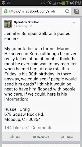 request for birthday wishes for veteran grandfather image source AJ Arndt