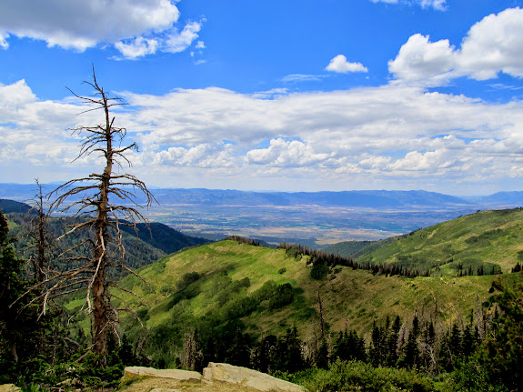 Sanpete Valley viewed from the head of the Twin Creek drainage