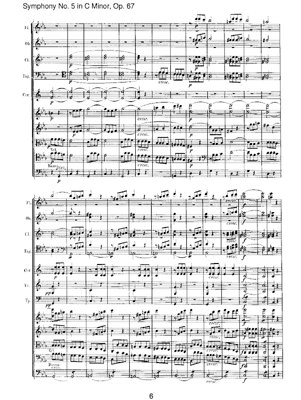 All Music Chords beethoven s 5th sheet music : Da da da daaaaa... The opening 4 notes to Beethoven's Fifth ...