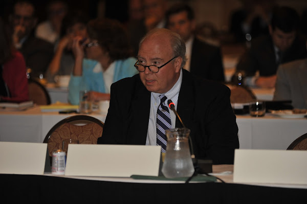 HANYS Executive Vice President Dennis Whalen speaks during the HANYS Board of Trustees Meeting.