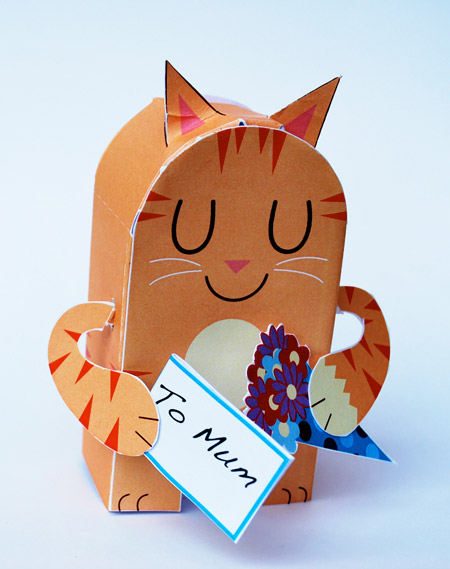 George the Cat Paper Toy