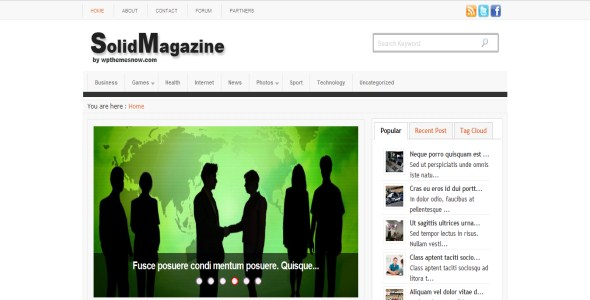 Solid Magazine Wordpress Theme