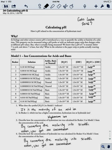 Curtis Layton Chemistry Calculating Ph Worksheet