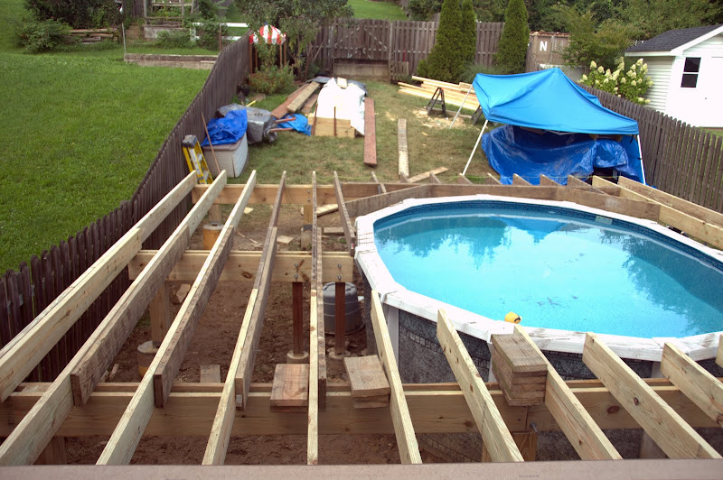 Structure is complete.  Blocking going in, decking will start soon.