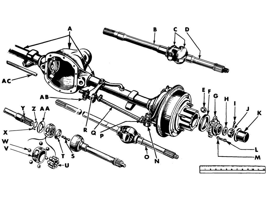 willys mb    ford gpw front axle