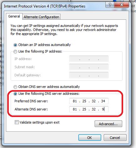 возможно недоступен сервер dns