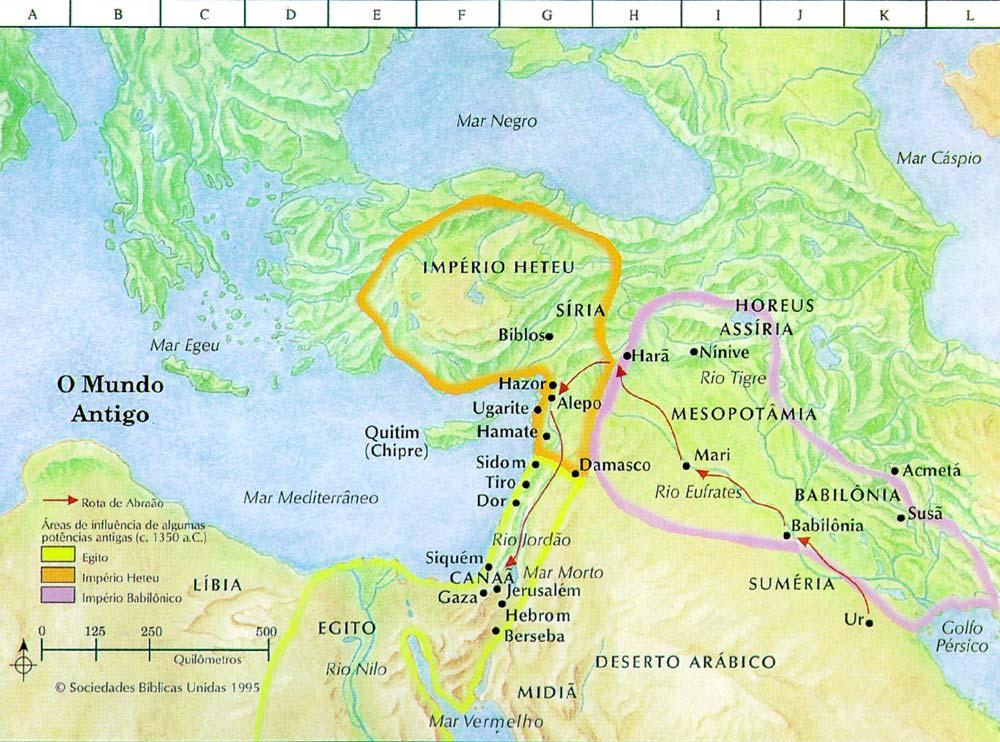 Mapas do Mundo Antigo  Mapas Bblicos