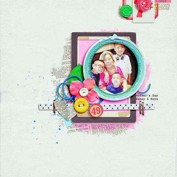 Mother's Day 2013 // Scrapbook Layout // 8x8 // See Jane Play by Erica Zane