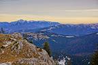 Muntele Ciucas vazut din spatele Cabanei Piatra Mare