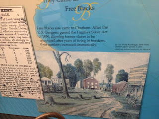 Free Blacks also came to Chatham.