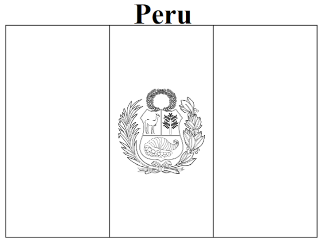 Flag Peru Free Coloring Pages Peru Flag Coloring Page