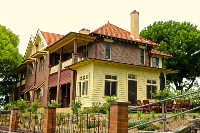 Lovely governor's house on Cockatoo Island, Sydney Harbour