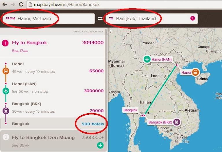 Hướng dẫn tìm khách sạn trên bản đồ trực tuyến