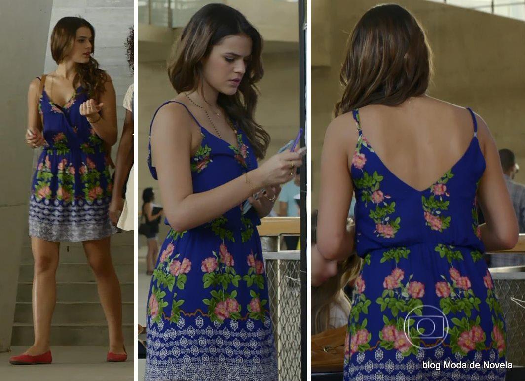 moda da novela Em Família - look da Luiza dia 18 de abril