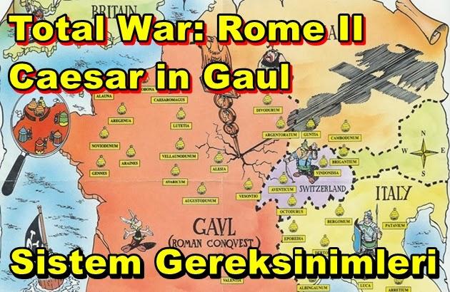 Total War: Rome II – Caesar in Gaul PC Sistem Gereksinimleri