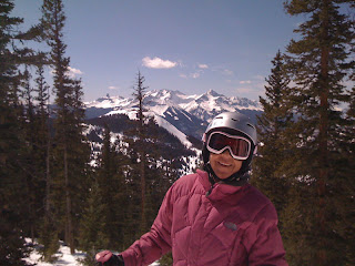 Nan skiing at Telluride