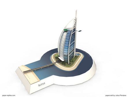 Burj Al Arab Papercraft