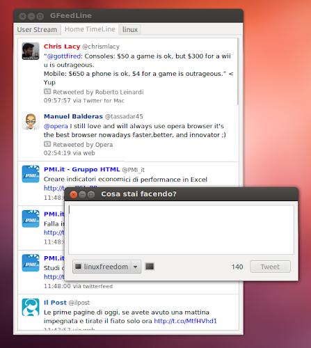 GFeedLine 1.7 su Ubuntu