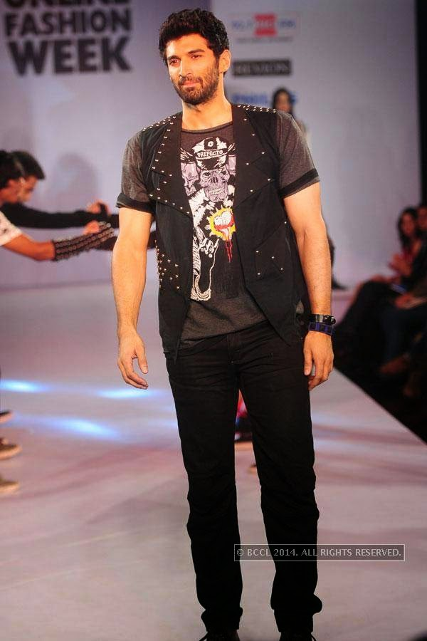Aditya Roy Kapoor during Jabong Online Fashion Week, held at Hotel Le Meridian, in Delhi, on July 30, 2014.