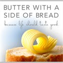 Butter with a side of Bread on Pinterest
