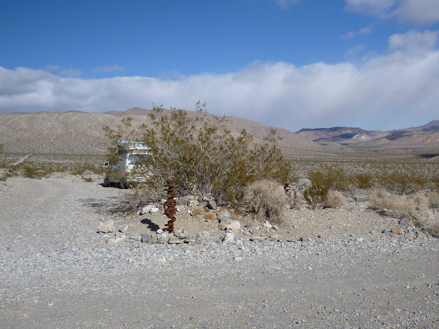 long, thick crankshaft in the desert