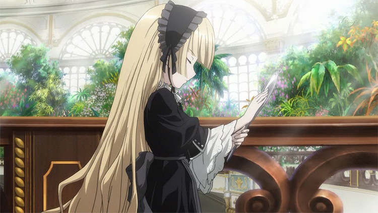 Gosick Victorique voluminous blonde hair