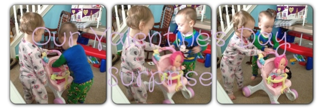 Playing Pretend, Twins, Babies, Toddlers, Fisher Price Stroller, Wordless Wednesday