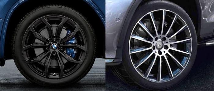 BMW x3 ให้ล้อขนาด 19 นิ้ว , Benz GLC 220D ให้ล้อขนาด 18 นิ้ว