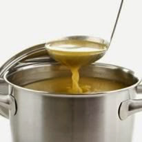 stockpot of broth