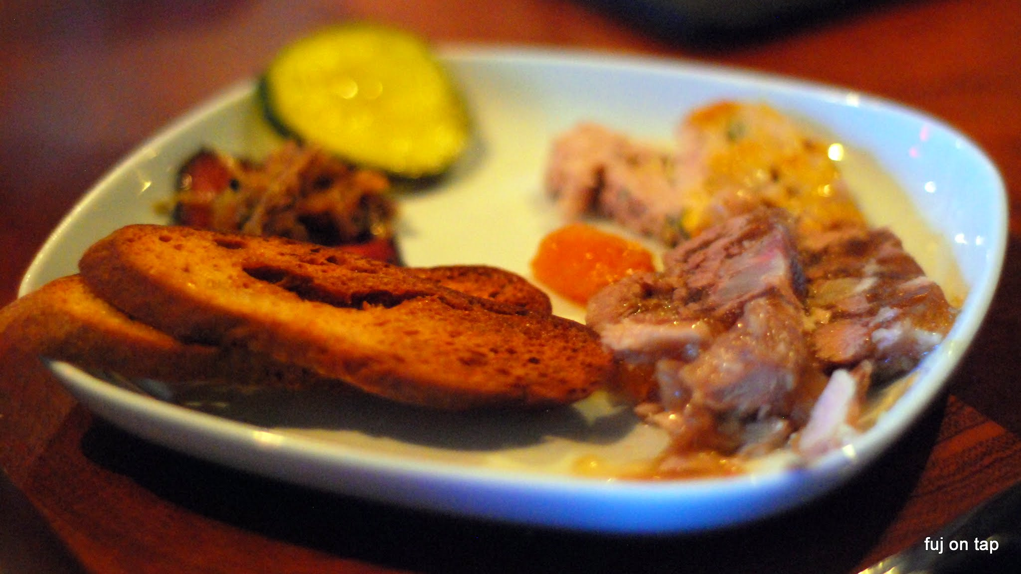 Smoked Beef Tongue, Rabbit Terrine, Chicken Liver Pâté, Pork Head Cheese